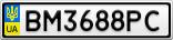 Номерной знак - BM3688PC