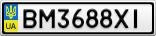 Номерной знак - BM3688XI