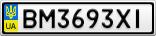 Номерной знак - BM3693XI