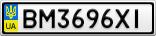 Номерной знак - BM3696XI