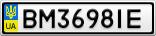 Номерной знак - BM3698IE