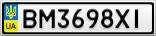 Номерной знак - BM3698XI