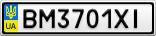 Номерной знак - BM3701XI