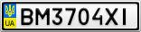 Номерной знак - BM3704XI