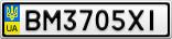 Номерной знак - BM3705XI
