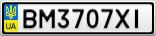 Номерной знак - BM3707XI