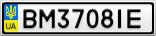 Номерной знак - BM3708IE