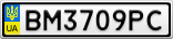 Номерной знак - BM3709PC