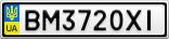 Номерной знак - BM3720XI