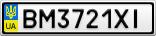 Номерной знак - BM3721XI