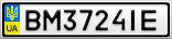 Номерной знак - BM3724IE