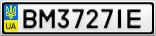Номерной знак - BM3727IE