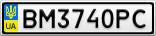 Номерной знак - BM3740PC