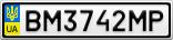 Номерной знак - BM3742MP