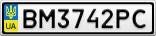 Номерной знак - BM3742PC