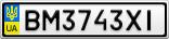 Номерной знак - BM3743XI