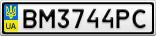 Номерной знак - BM3744PC