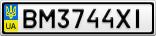 Номерной знак - BM3744XI