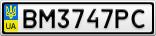 Номерной знак - BM3747PC