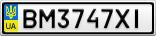 Номерной знак - BM3747XI