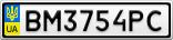 Номерной знак - BM3754PC