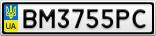 Номерной знак - BM3755PC