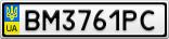 Номерной знак - BM3761PC