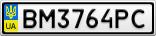 Номерной знак - BM3764PC