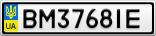 Номерной знак - BM3768IE