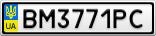 Номерной знак - BM3771PC