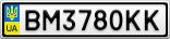 Номерной знак - BM3780KK