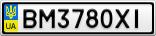 Номерной знак - BM3780XI