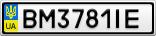 Номерной знак - BM3781IE