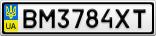 Номерной знак - BM3784XT