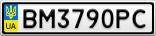 Номерной знак - BM3790PC