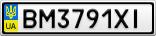 Номерной знак - BM3791XI