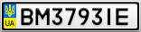 Номерной знак - BM3793IE