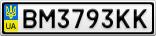 Номерной знак - BM3793KK