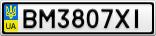 Номерной знак - BM3807XI