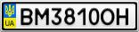 Номерной знак - BM3810OH