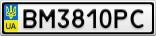 Номерной знак - BM3810PC