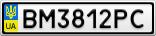 Номерной знак - BM3812PC