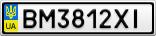 Номерной знак - BM3812XI