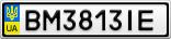 Номерной знак - BM3813IE