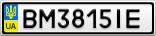 Номерной знак - BM3815IE