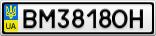 Номерной знак - BM3818OH