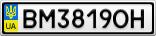 Номерной знак - BM3819OH