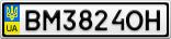 Номерной знак - BM3824OH
