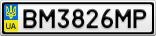Номерной знак - BM3826MP