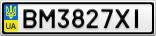 Номерной знак - BM3827XI